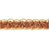 Sequin 6mm Round Trim Orange Hologram